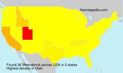 Surname Meenderink in USA