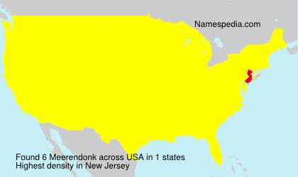 Surname Meerendonk in USA