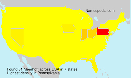 Surname Meerhoff in USA