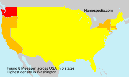 Surname Meessen in USA