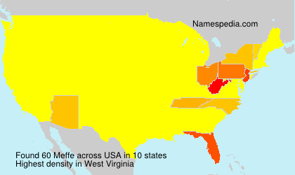 Surname Meffe in USA