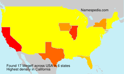Surname Megeff in USA