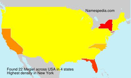 Familiennamen Megiel - USA