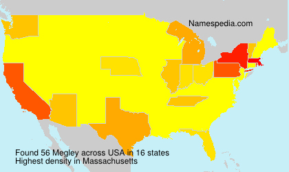 Surname Megley in USA