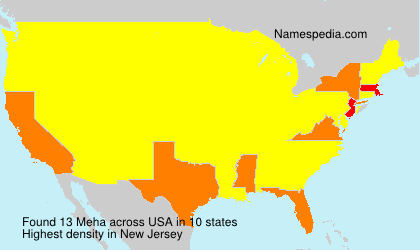 Surname Meha in USA