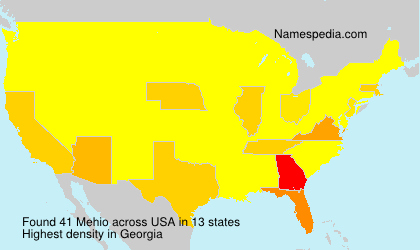 Surname Mehio in USA