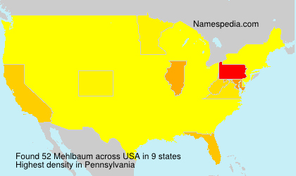 Surname Mehlbaum in USA