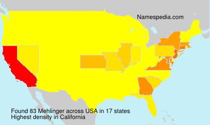Surname Mehlinger in USA