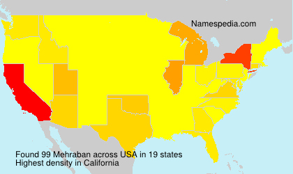 Surname Mehraban in USA