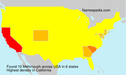 Surname Mehrnoush in USA