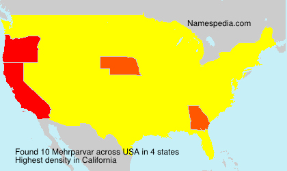 Surname Mehrparvar in USA