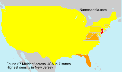 Surname Meidhof in USA