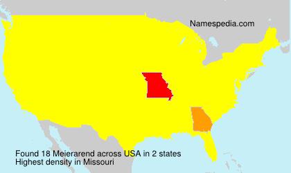 Surname Meierarend in USA