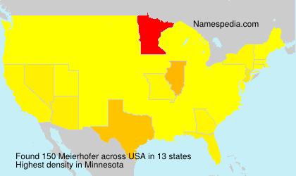 Familiennamen Meierhofer - USA