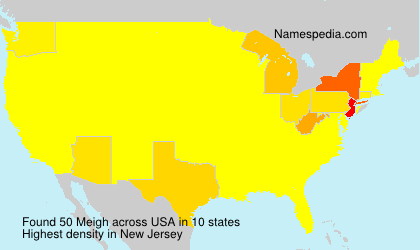 Surname Meigh in USA