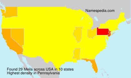 Familiennamen Meila - USA