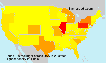 Surname Meilinger in USA