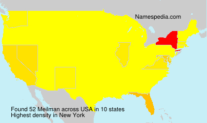 Surname Meilman in USA