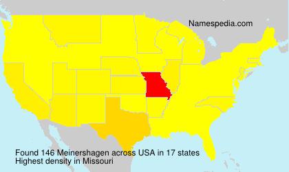 Surname Meinershagen in USA