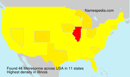 Surname Meiresonne in USA