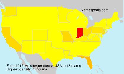 Familiennamen Meisberger - USA
