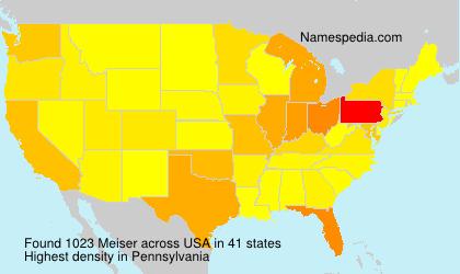 Surname Meiser in USA