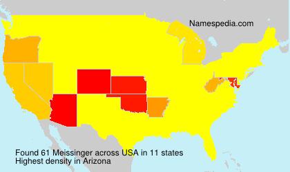 Surname Meissinger in USA