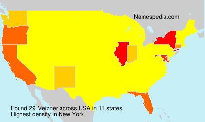Surname Meizner in USA