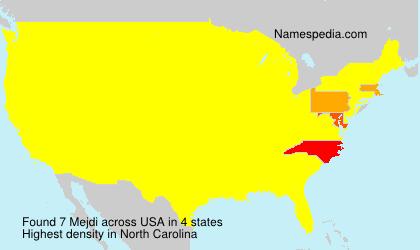 Familiennamen Mejdi - USA