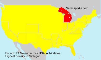 Surname Mejeur in USA