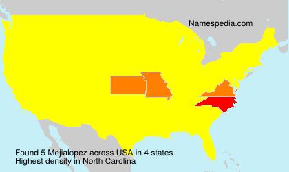 Familiennamen Mejialopez - USA