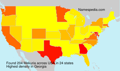 Surname Mekuria in USA