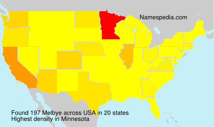 Surname Melbye in USA
