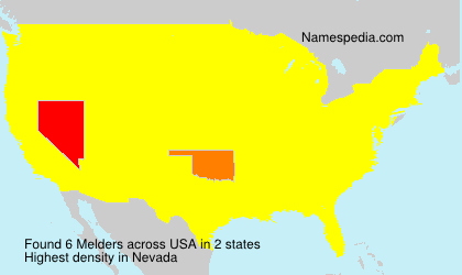 Surname Melders in USA