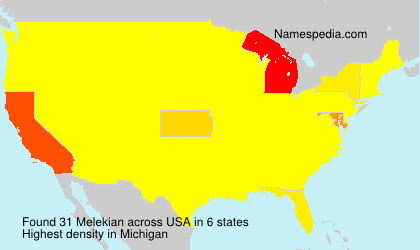 Surname Melekian in USA