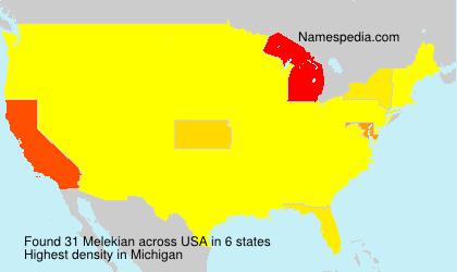 Surname Melekian in USA