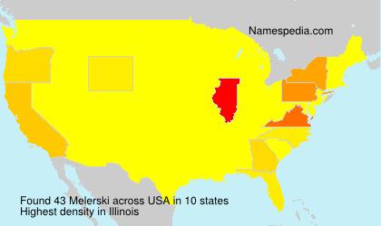 Familiennamen Melerski - USA
