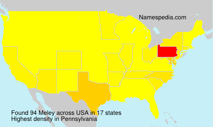 Surname Meley in USA