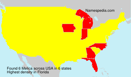 Surname Melica in USA