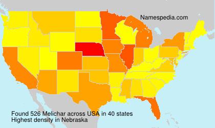 Surname Melichar in USA