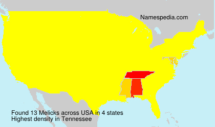 Surname Melicks in USA
