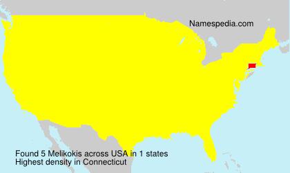 Familiennamen Melikokis - USA