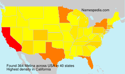 Surname Melina in USA