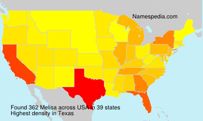 Surname Melisa in USA