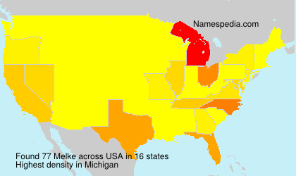 Surname Melke in USA