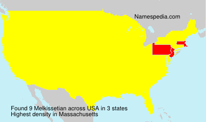 Surname Melkissetian in USA