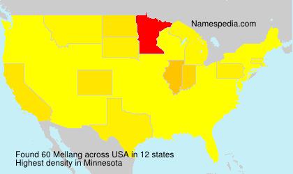 Familiennamen Mellang - USA