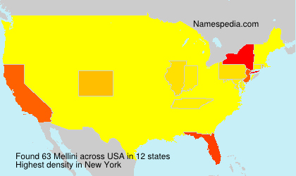 Familiennamen Mellini - USA