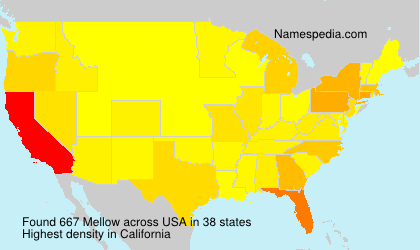 Surname Mellow in USA