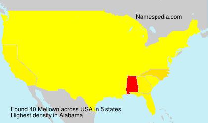 Familiennamen Mellown - USA